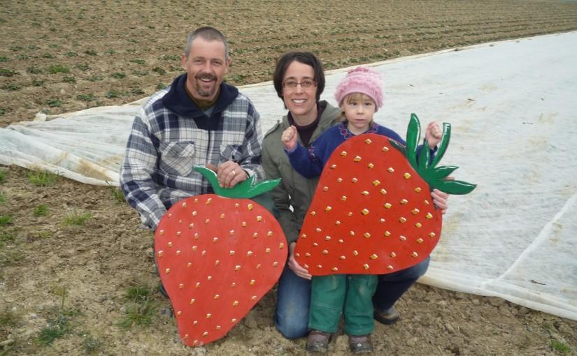 Die Familie Meienberg freut sich im Winter schon auf die Erdbeeren